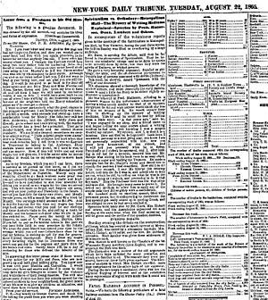 Jordan Anderson - Newspaper print of Anderson's letter