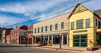 Oakland Historic District (Oakland, Maryland) - Historic buildings along Liberty St.