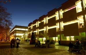 Macquarie University - Building C7A, at night