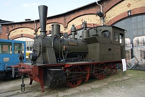 Saxon VII T - Locomotive HEGEL at the Dresden Steam Locomotive Festival in 2011