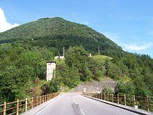 La località di Lignago ai piedi del monte Pra, il luogo ove fu catturato e ucciso Eliseo Baruffaldi.