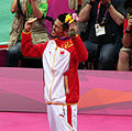Lin Dan Celebrates His Gold Medal.jpg