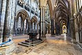Lincoln Cathedral, font and south aisle (48880471618).jpg
