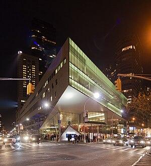 Alice Tully Hall at night.