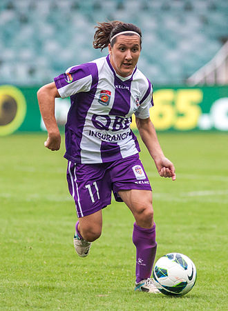 Lisa De Vanna - De Vanna playing for Perth Glory in 2012