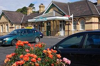 Lisburn railway station In Lisburn in County Antrim, Northern Ireland