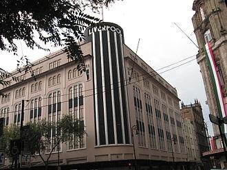 Liverpool (store) - The original Liverpool store located at Carranza and 20 de Noviembre streets in the historic center of Mexico City.
