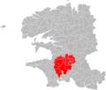 Localisation EPCI de Quimper bretagne occidentale dans le Finistère, France.png