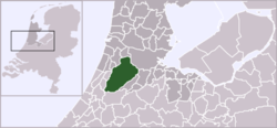 Location of Nieuw Vennep