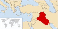 Location of Iraq