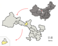 Location of Yongchang County within Gansu (China).png