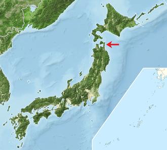 Shimokita Peninsula - Location of Shimokita Peninsula in Japan