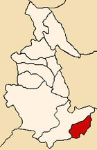 Location of the province Paucar del Sara Sara in Ayacucho.png