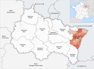 Lage des Bas-Rhin