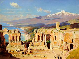 Le Théâtre grec, Taormine, Sicile