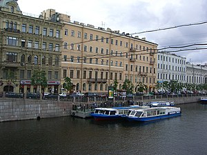 St. Petersburg Department of Steklov Institute of Mathematics of Russian Academy of Sciences - POMI office building at 27, Fontanka River embankment, St. Petersburg