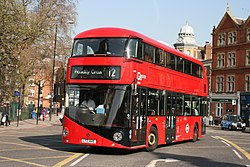 London Central LT445 on Route 12, Camberwell Green (17074990015).jpg