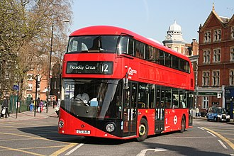 London Central - New Routemaster on route 12 in Camberwell Green in 2015