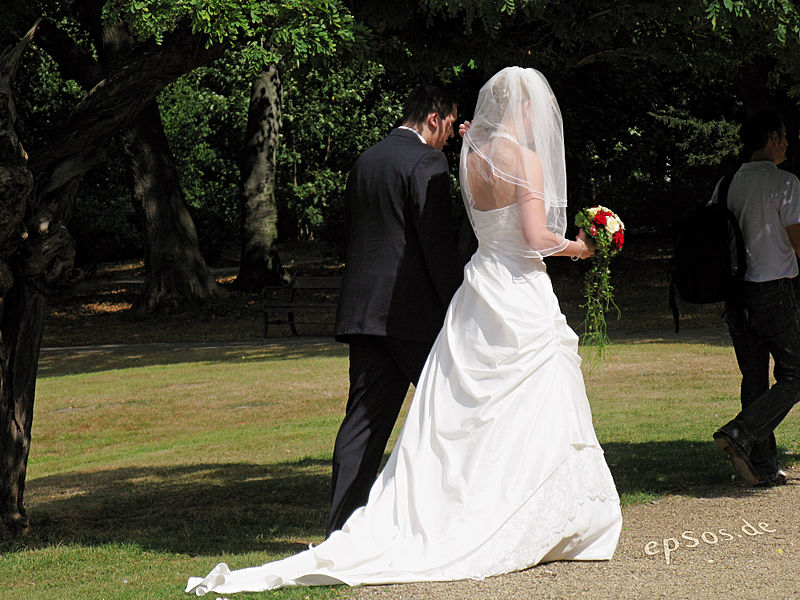 File:Long Wedding Dress for Couple with Flowers.jpg
