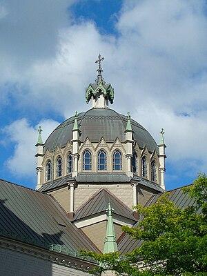 Co-Cathedral of Saint-Antoine-de-Padoue - The Byzantine dome.