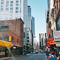 Looking towards Boston Theatre District (Paramount Theater) from Chinatown in Boston.jpg