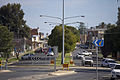Looking up Kurrajong Ave from Yanco Ave in Leeton.jpg