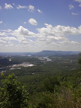 Lookout Mountain - Lookout Mountain, as viewed from Signal Mountain, Tennessee.