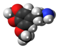 Lophophine molecule spacefill.png