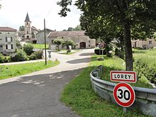 Lorey (M-et-M) city limit sign.jpg