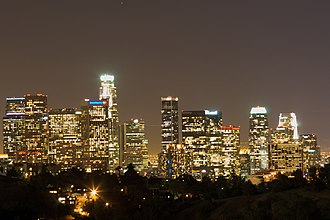 Largest cities in southern California - Image: Los Angeles Skyline at Night