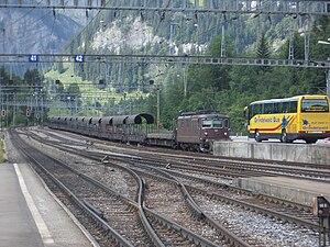 Lötschberg Tunnel - Car transport through the Lötschberg tunnel (Kandersteg)