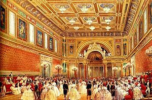 "Louis Haghe - ""The New Ballroom"" (at Buckingham Palace), 1856."