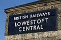 Lowestoft Central sign straightened.jpg