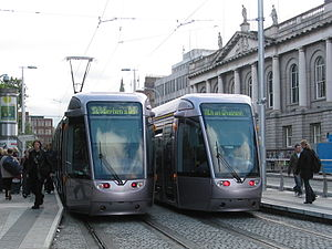 St Stephen's Green station - Luas (Typ Alstom Citadis 401) at St Stephen's Green station