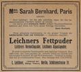 Ludwig Leichner wirbt mit Sarah Bernhardt, 1907.png
