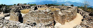 Liguria - The Roman amphitheatre of Luni (1st century AD).