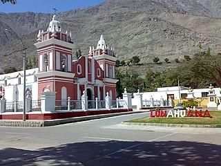 Lunahuaná Town in Lima, Peru