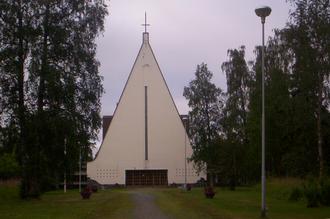Cross of Saint Peter - Peter's Cross on a Lutheran church