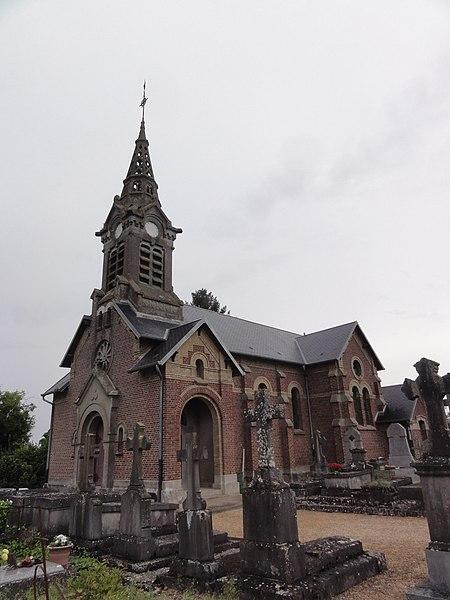 Ly-Fontaine (Aisne) église Saint-Jacques et Saint-Christophe