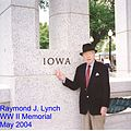 Lynch, Raymond J WW II Memorial with caption.JPG