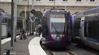 Gare de Lyon-Saint-Paul - A Tram-Train at the station
