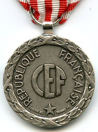 1943–1944 Italian campaign medal - Reverse of the 1943–1944 Italian campaign medal