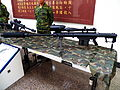 M107A1 Sniper Rifles Display in Armor School Museum 20130302b.jpg