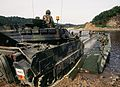 M2 Bradley boards a pontoon bridge in S. Korea.jpg