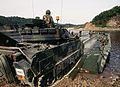 M2 Bradley boards a pontoon bridge in S. Korea.jpg