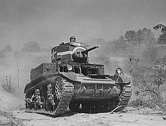 Tanks of the U.S. in the World Wars - M3 Stuart at Fort Knox, Kentucky, used for training.