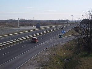 M5 motorway (Hungary) - Image: M5 kapu Újhartyán