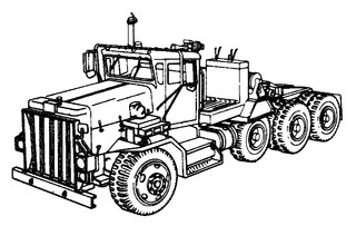 Combine Tractor Coloring Pages