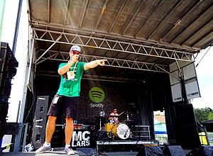 MC Lars - MC Lars at the Vans Warped Tour 2013.