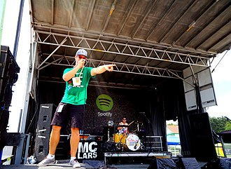 MC Lars - MC Lars at the Vans Warped Tour 2013.